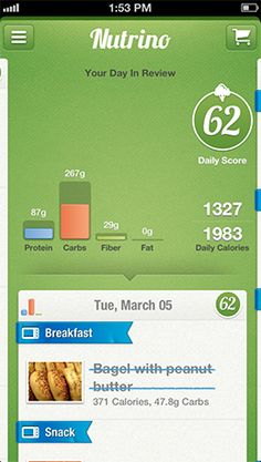 Nutrino is a brillant app to set up your personal guide for healthy living. keep up the good work  typicall QS tool