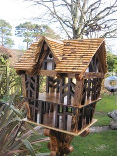These bespoke luxury bird tables are not just bird tables but make a superb centre piece for any garden.