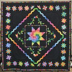 Kaleidoscope of Colors, Opportunity Quilt for Cotton Patch Quilters. Made by Cindy Seitz-Krug and other members