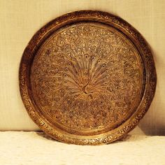 Handcarved Ornamental Brass Plate - Handmade in India on Etsy, Sold