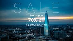 Mid-season sale on selected styles up to 70% off