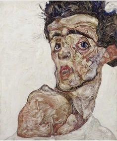Feedback to the past - Egon Schiele @artistworkingon  #artistworkingon #painting #paint #oiloncanvas #oil #portrait #greatart…