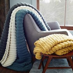 Horizontal Double Rib Throw sweaters that look like blankets,blankets that look like sweaters…either way I'm into it.