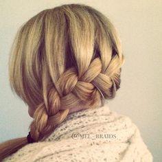 French braided Katniss braid