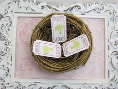 Palm Tree Tickets Beach Wedding Bridal Showers by GoldenNestStudio