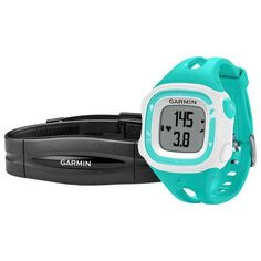 Garmin - Forerunner 15 GPS Watch with Heart Rate Monitor (Small) - Teal/White - Larger Front