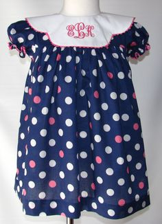 Portrait dresses for girls Monogrammed by MonogrammedClothing