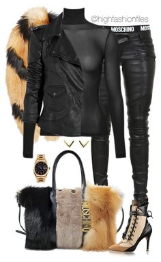"""""""X"""" by highfashionfiles on Polyvore featuring Moschino, Balmain, E L L E R Y, Rolex and Lot78"""