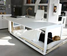 Napping desk bed for people who combine living and working in tiny apartments.( <3 a small TV)