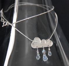Silver rain cloud pendant £40.00