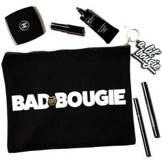 Bad and Bougie Makeup Bag ❤ liked on Polyvore featuring beauty products, beauty accessories, bags & cases, makeup purse, toiletry kits, make up bag, wash bag and travel kit