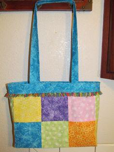 Cute Spring-Colored 6-Panel Bag. $35.00.    www.uniquectdesigns.com