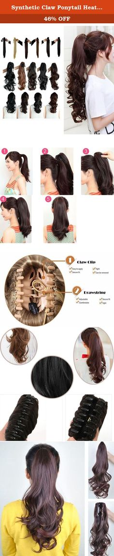 Synthetic Claw Ponytail Heat Resistant Handy Jaw Pony Tail One Piece Long Wavy Curly Soft Silky for Women Lady Girls 18'' / 18 inch (medium brown). Product information Materials: Kanekalon Fiber from Japan(also known as KK wire) Length: 18inch without stretching Suitable Occasions: daily use,Halloween,cosplay,club,concerts,costume,theme parties,bachelorette party,weddings,dating,conventions,masquerades,prom,evening out,carnival,April Fool's Day and any other occasions. Also will be nice...
