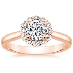 14K Rose Gold Lotus Flower Diamond Ring (1/3 ct. tw.) from Brilliant Earth