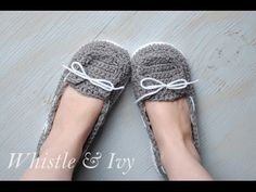 ▶ Women's Boat Slippers Straps and Toe Flap Tutorial - YouTube