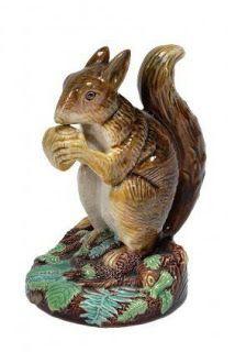 George Jones Majolica Model of a Squirrel
