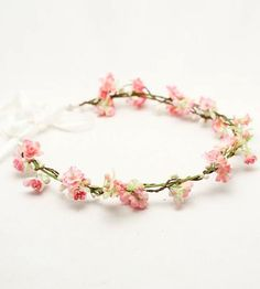 Flower crown, very simple and beautiful!