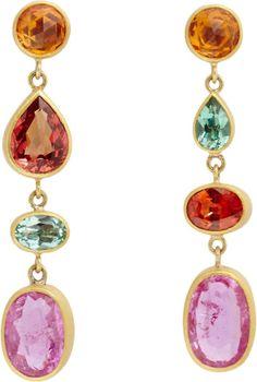 Marie-hélène De Taillac Champagne Drop Earrings in Multicolor