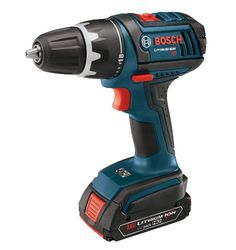Bosch DDS181-02 18-Volt Compact Tough Drill Driver with 2 1.5Ah Batteries -    Ready for heavy-duty drilling applications in materials ranging from wood to metal, the small yet powerful Bosch DDS181-02 Compact Tough 18-volt lithium-ion 1/2-inch drill