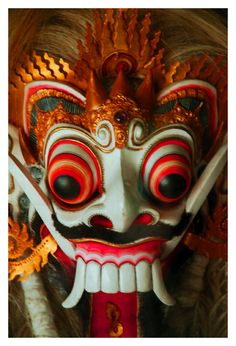 Indonesian Masks | Barong mask is a critical part of the Barong dance, one of Balis most ...
