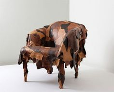 Leatherworks accent chair by Campana Brothers for Edra