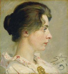 Peder Severin Krøyer (Norwegian-born Danish artist,  1851-1909) Marie Kroyer The Artist's Wife 1891