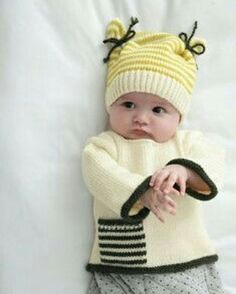 Baby Patterns & Patterns - Baby Knit Patterns - We publish good gifts idea Baby Knitting Patterns, Baby Hats Knitting, Crochet Baby Hats, Knitting For Kids, Crochet For Kids, Baby Patterns, Knitted Hats, Baby Hut, Baby Baby