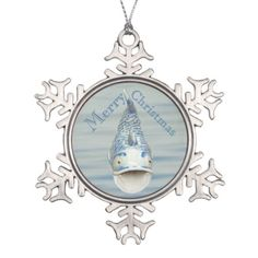 Blue Nautical Fish Merry Christmas Ornament