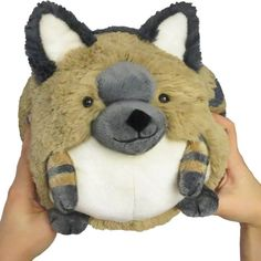 The Limited Mini Aardwolf is here! This stripey, smiling wild dog is ready for your hugs! Designed by Amanda R. for Open Squish! #squishable #plush #animal