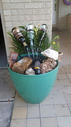 Wine bottle fountain.  Pretty simple for about $125.  Went together really fast.