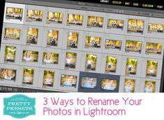 3 Ways to Rename Your Files in Lightroom