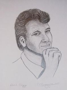 Patrick Swayze in pencil: pencil study from a magazine photo done with HB pencil