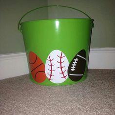 Cute easter bucket idea