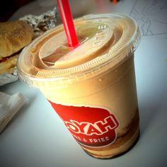 Caramel Milkshake, exclusive version of MOOYAH milkshake for the Middle East.  It's tastes soooo good. Don't miss out!