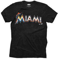 Miami Marlins Triblend T-Shirt by Majestic Threads - MLB.com Shop