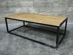 Coffee Table Rustic Industrial Iron Wood by the Jepara Goods Woodworking Studio Indonesia. We produce and supply #rusticfurniture #industrialfurniture at affordable price by skilled #craftsman from Jepara, Central Java - Indonesia. #vintageindustrial #mebelkayubesi #mebelrustic #kursikayubesi #kursicafe #metalchair #mejabesikayu #mejacafe #coffeetable