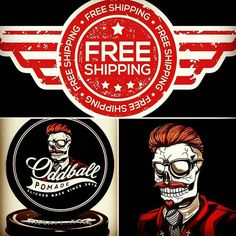 From now on we offer free shipping to anywhere in the continental United States! Go to oddballpomade.bigcartel.com to purchase!  #oddball #oddballpomade #pomade #pomp #pompadour #grease #beeswax #peppermint #beard #barber #barbershop #barbershopconnect #hair #haircut #haircare #beardedvillains #beardsofinstagram #shave #wax by oddballpomade