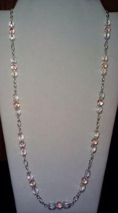 Collier de perles à la main avec Rose par KimsSimpleTreasures