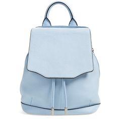 rag & bone 'Mini Pilot' Quilted Leather Backpack (39.080 RUB) ❤ liked on Polyvore featuring bags, backpacks, сумки, light blue, backpacks bags, mini rucksack, mini bucket bag, mini drawstring bags and bucket bag
