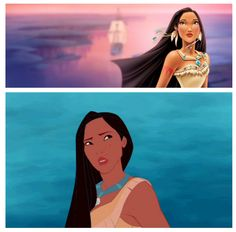 Pocahontas does not approve of her redesign. LOL me either leave the princesses alone Disney!