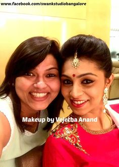 Our client Namitha Reddy is all dolled up for her special occasion. Makeup and hairstyle by Vejetha for Swank Studio. #redlips #maangtikka  #bindi #anarkali Find us at https://www.facebook.com/SwankStudioBangalore