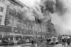 Film of fatal Manchester city centre Woolworths fire of 1979 inspires Turner prize-winning artwork Manchester City Centre, Manchester New, Manchester England, Old Pictures, Old Photos, Manchester Piccadilly, Rochdale, Salford, Abandoned Places