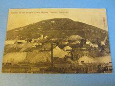 Old 1912 - Center of CRIPPLE CREEK Mining District COLORADO - MINING POSTCARD