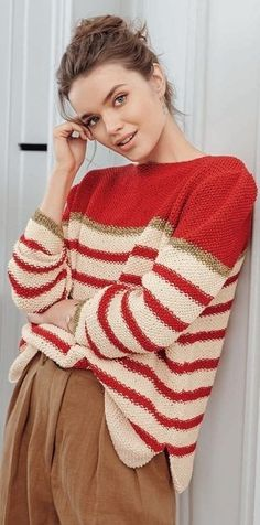 Knitting Stiches, Baby Knitting Patterns, Embroidery Patterns, Knit Crochet, Jumper, Pullover, Couture, Creative, Sweaters