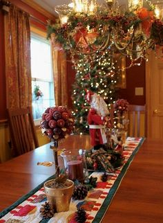 2013 Christmas table centerpiece, Christmas Santa centerpiece, Christmas food, Christmas table decor #Christmas #table #centerpiece www.loveitsomuch.com