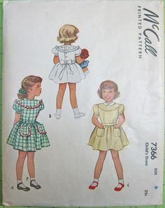 Party Dress Child 1940s