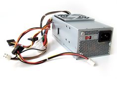 Genuine Dell 250W Power Supply PSU for SFF Small Form Factor Slim Inspiron 530s, 531s, Vostro 200s, 200 (slim only), 220s, Studio 540s Identical Dell Part Numbers XW605, YX301, XW604, XW784, XW783, YX299, YX303, 6423C, K423C, N038C, H856C, YX302, XW602 Compatible Model Numbers: TFX0250D5W, DPS-250AB-28 B, 04G185021200DE. 1x 4-Pin ATX power Connector. 1x Floppy Power Connector. 3x SATA Power Connectors. Dell 250w Power Supply Refurbished 90 day warranty. Connectors.