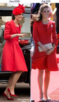 Catherine walker coat dress worn on candies tour and for order of the garter