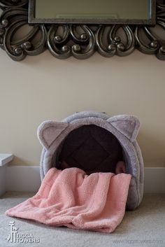 The Cat Head bed has a brand NEW rod system. This is now removable making it easy to wash! This is one bed your cats will not collapse!