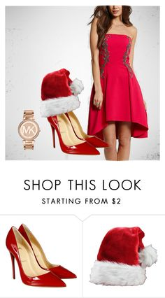 """Red Xmas Dress Set"" by lyoly-clothing on Polyvore featuring Christian Louboutin and Michael Kors Strapless Dress Formal, Formal Dresses, Dress Set, Christian Louboutin, Xmas, Michael Kors, Clothing, Polyvore, Red"